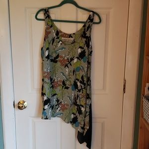 Rachel Roy Asymetrical Floral Patterned Tank